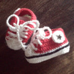 Baby sneakers rood