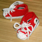 "Baby ""sneakers"" rood mkII 1"