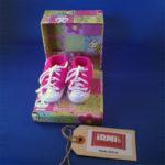 "Baby ""sneakers"" roze 1"